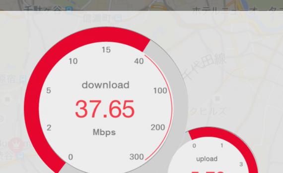 DMM mobile通信速度測定テスト2015/09/11 12:00