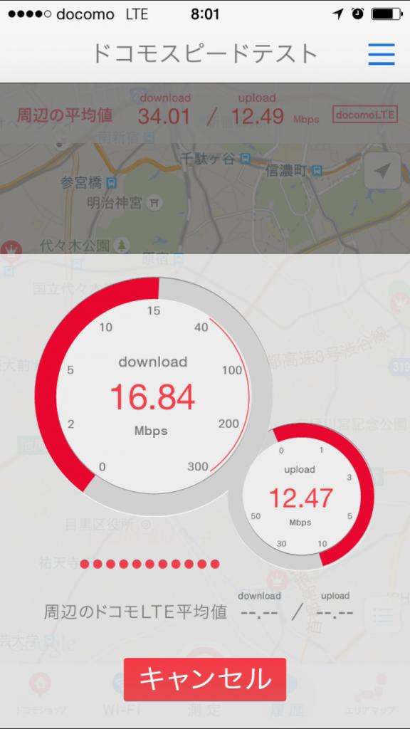 U-mobile通信速度測定テスト2015/09/24 08:00
