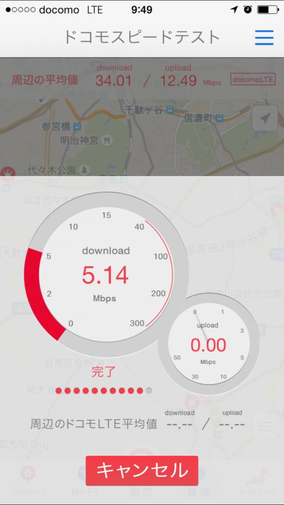 U-mobile通信速度測定テスト2015/09/26 09:49