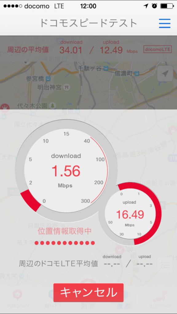 U-mobile通信速度測定テスト2015/09/26 12:00
