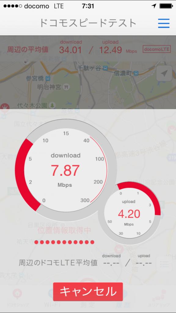 U-mobile通信速度測定テスト2015/09/28 07:31
