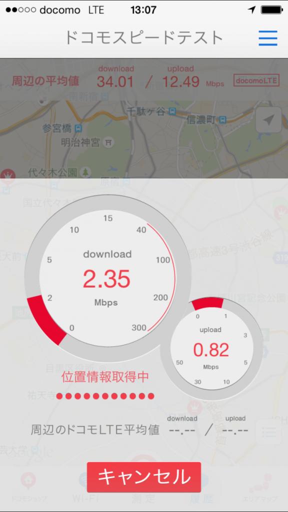 U-mobile通信速度測定テスト2015/09/28 13:07