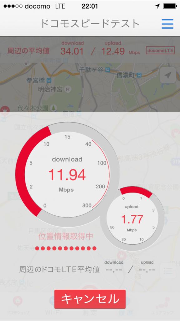 U-mobile通信速度測定テスト2015/09/28 22:01