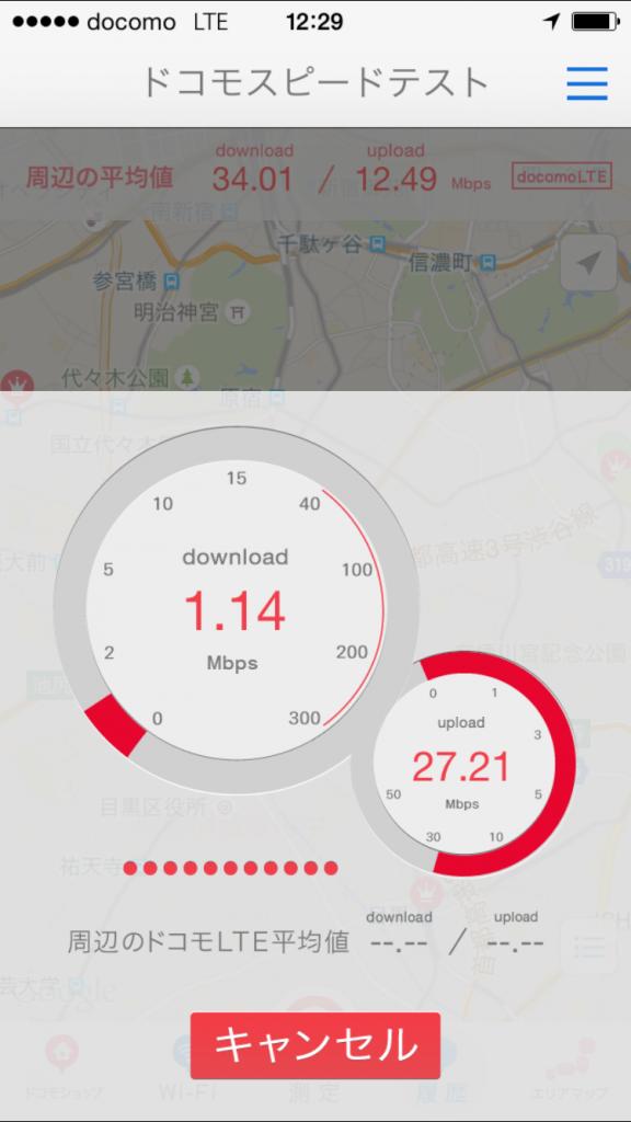 U-mobile通信速度測定テスト2015/09/30 12:29