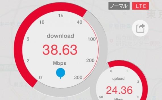 DMM.mobile通信速度測定テスト 2015/11/18 pm0:00
